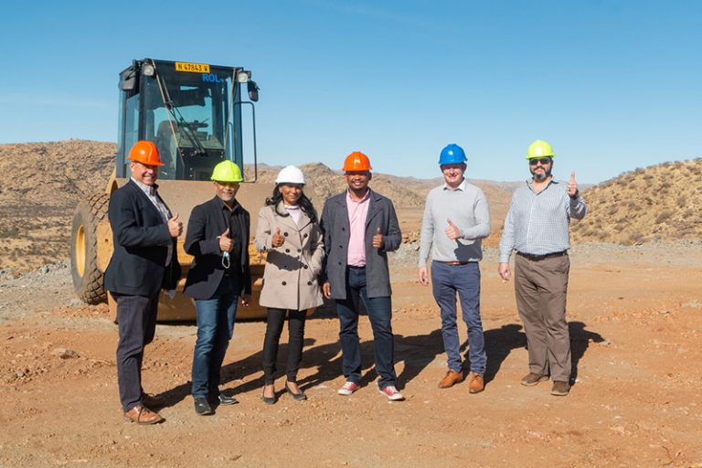 Bank Windhoek visits Ongos Valley construction site