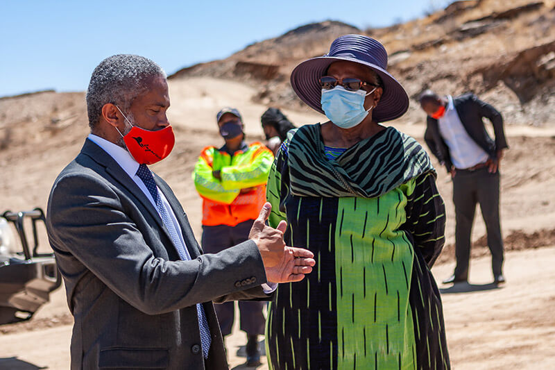 Ongos Valley Site visit by Hon. Netumbo Nandi-Ndaitwah, Deputy Prime Minister and Minister of International Relations